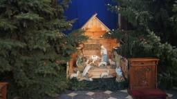 Boże Narodzenie 2014. Szopka w kaplicy Matki Boskiej Ostrobramskiej.